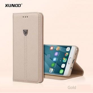 Gold Edel Leder Etui Galaxy S8 Plus